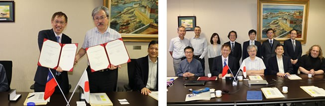 Signing ceremony of DDP between National Tsing Hua University and School of Science